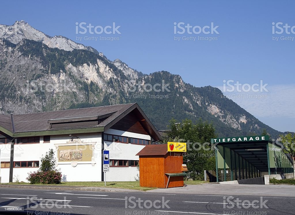 Parking in the Alps royalty-free stock photo