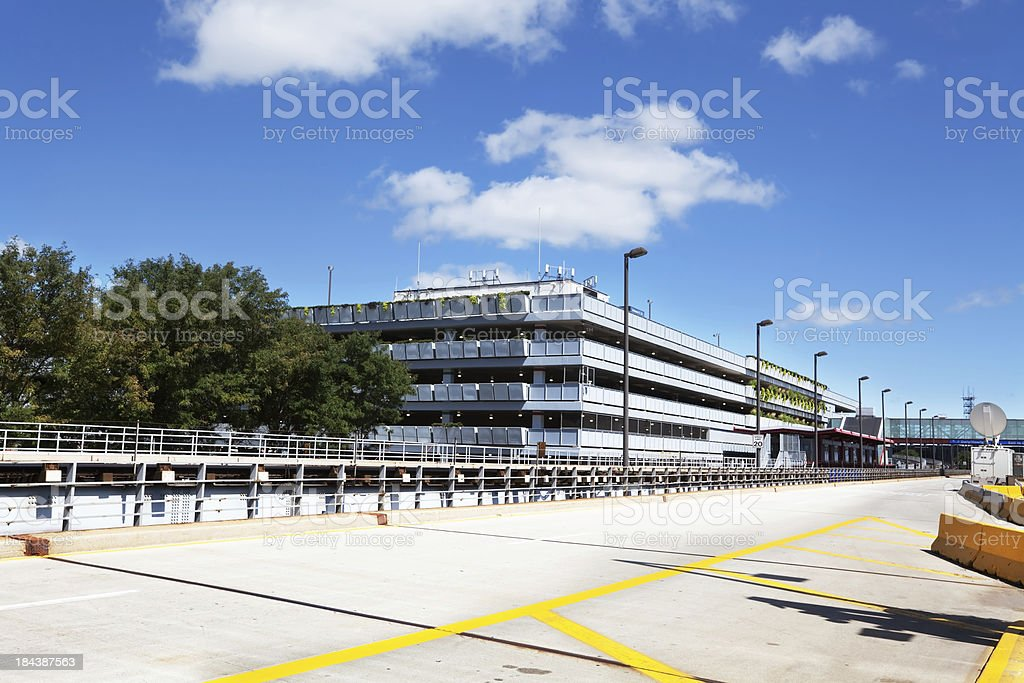 Parking lot at OHare Airport in Chicago stock photo