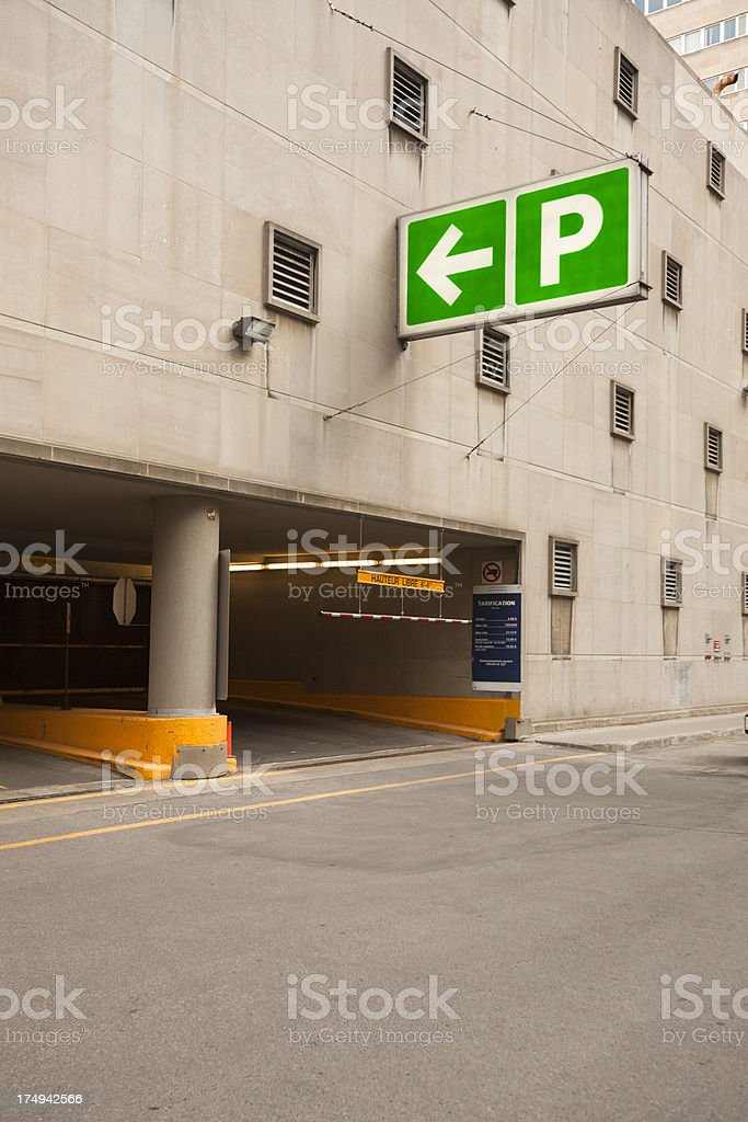 Parking lot automobile entrance royalty-free stock photo