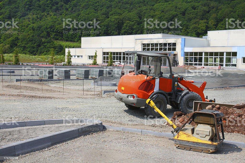 Parking Lot Construction stock photo