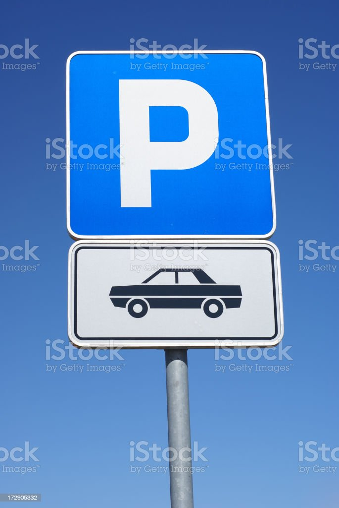 Parking lot for cars stock photo