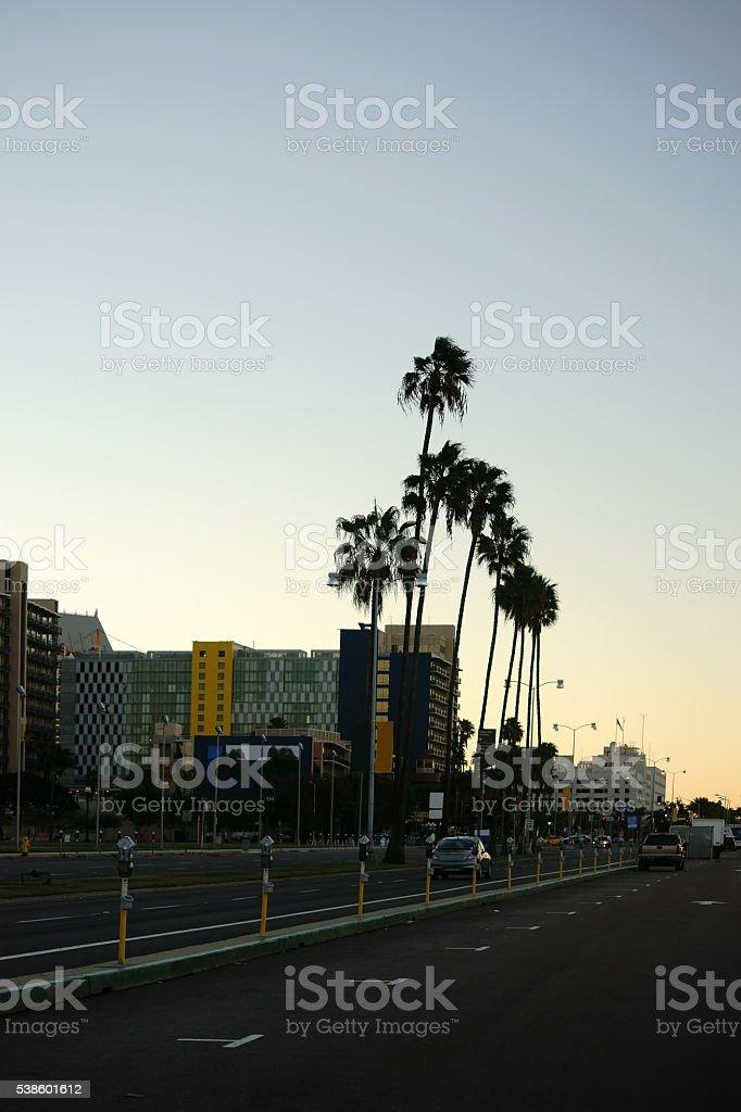 Parking lot Harbor San Diego stock photo