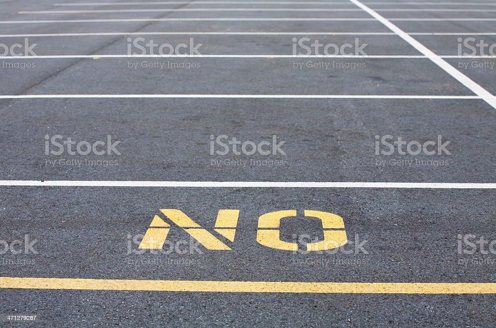 Parking Lot NO stock photo