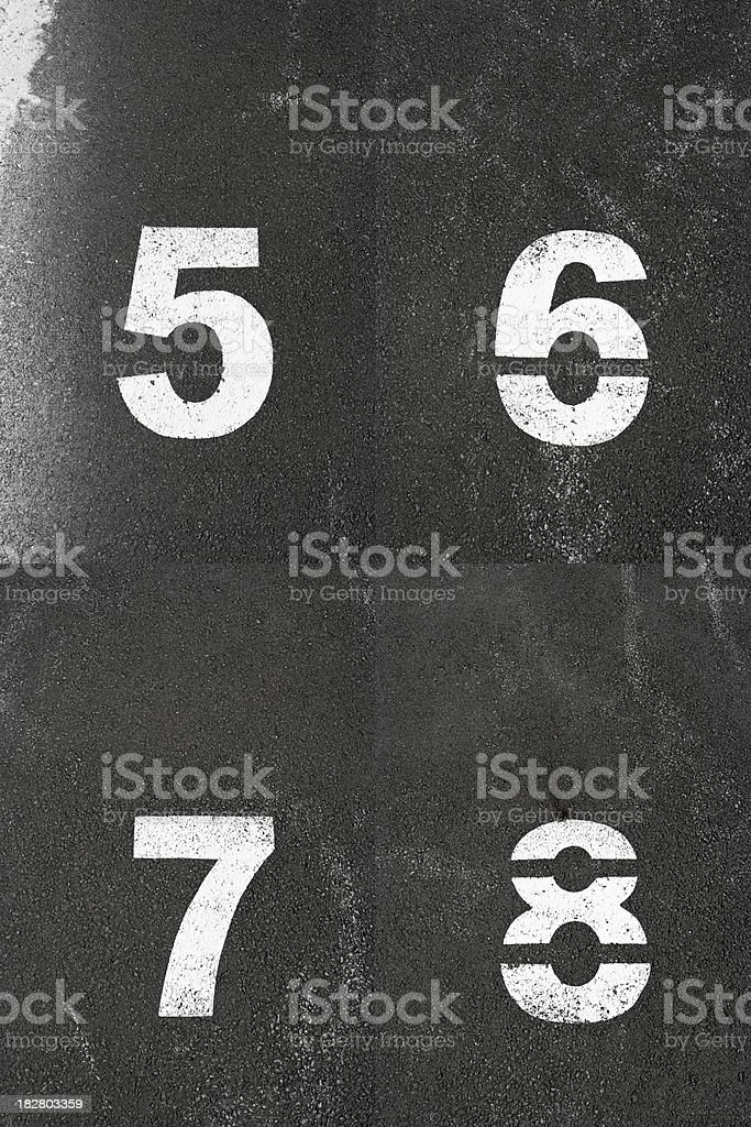 Parking Lot Numbers royalty-free stock photo