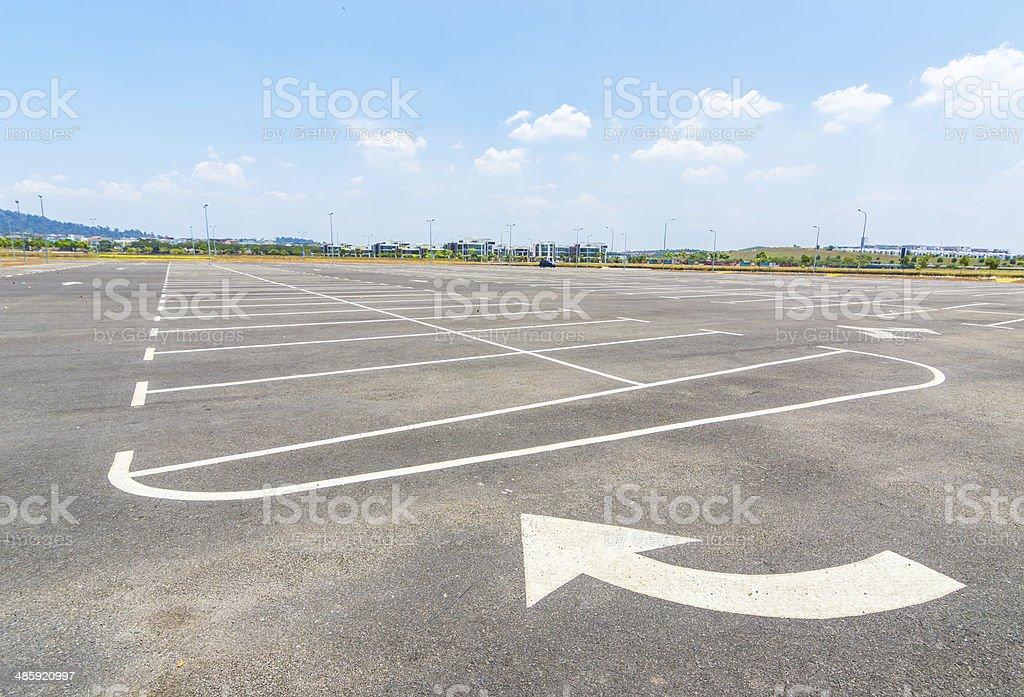 Parking lot royalty-free stock photo