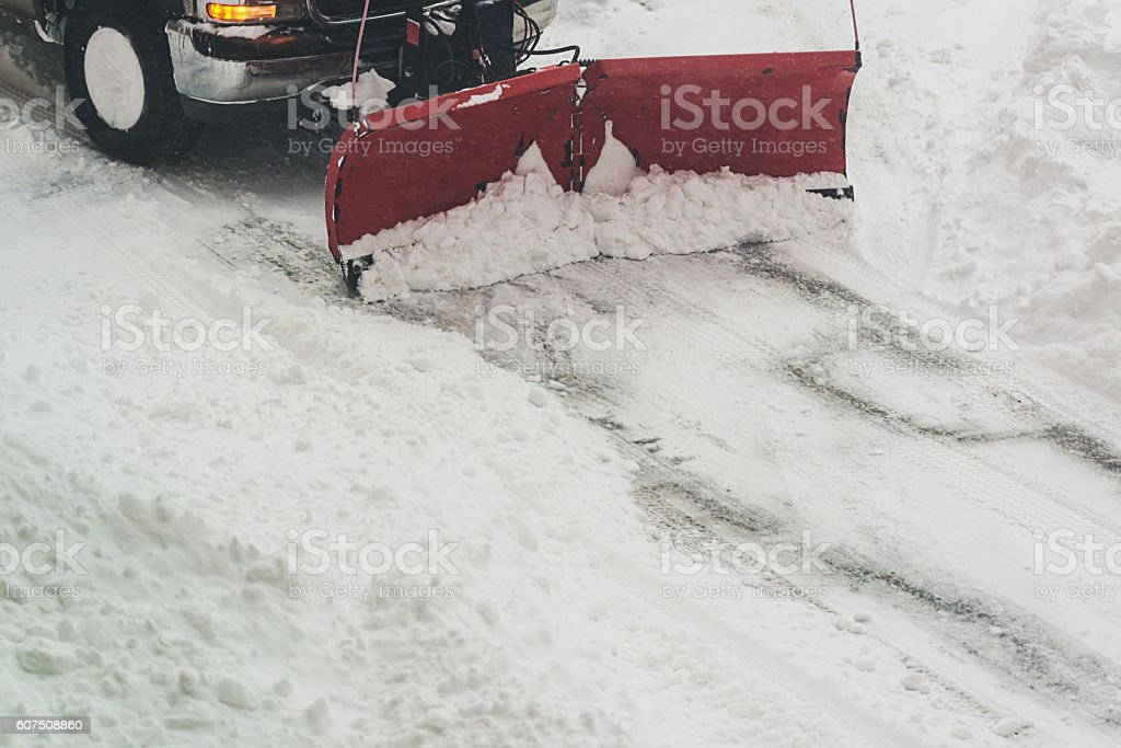 Parking Lot Snow Removal stock photo