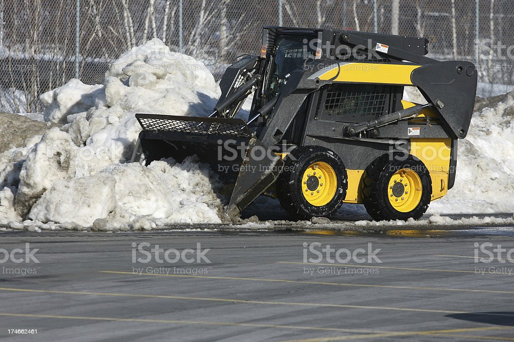Parking Lot Snow Removal, Series royalty-free stock photo