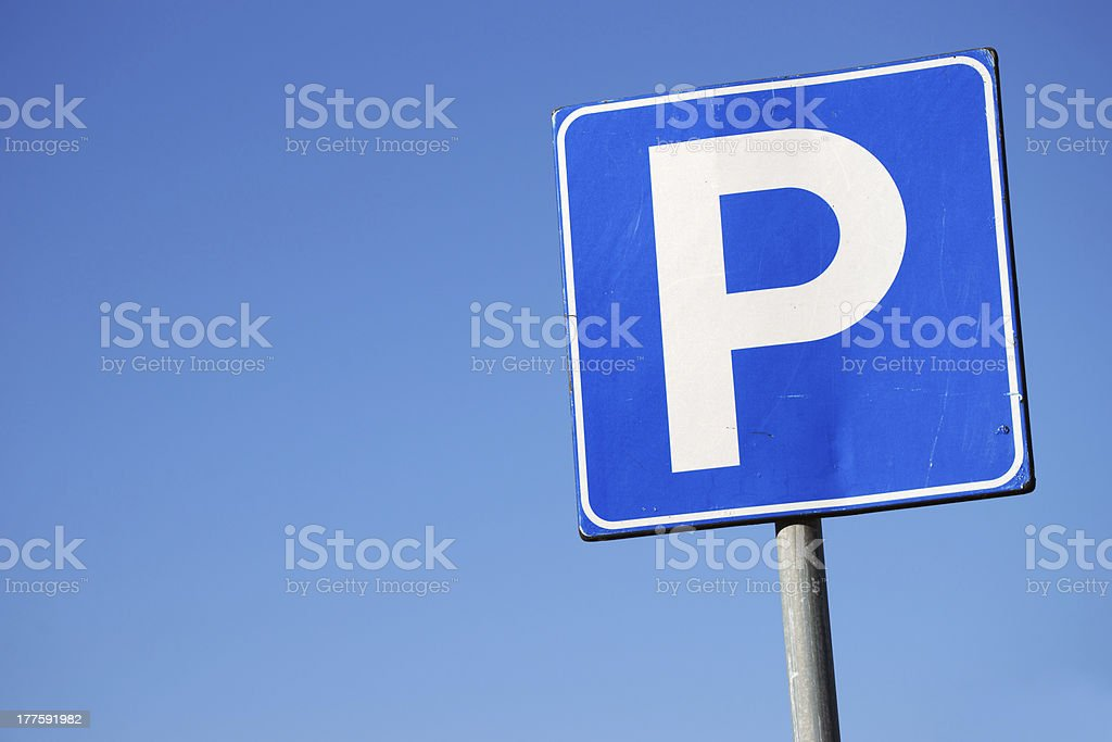 Parking lot traffic sign royalty-free stock photo