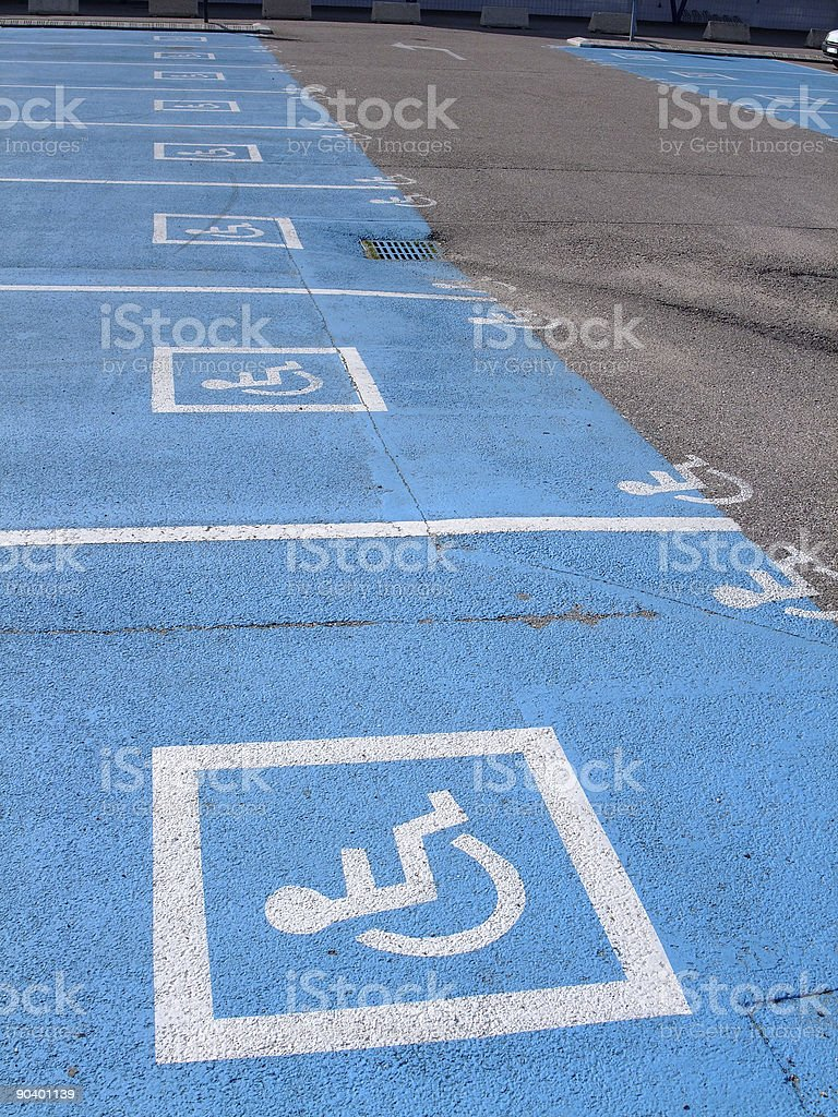 Parking lots  for disabled persons royalty-free stock photo
