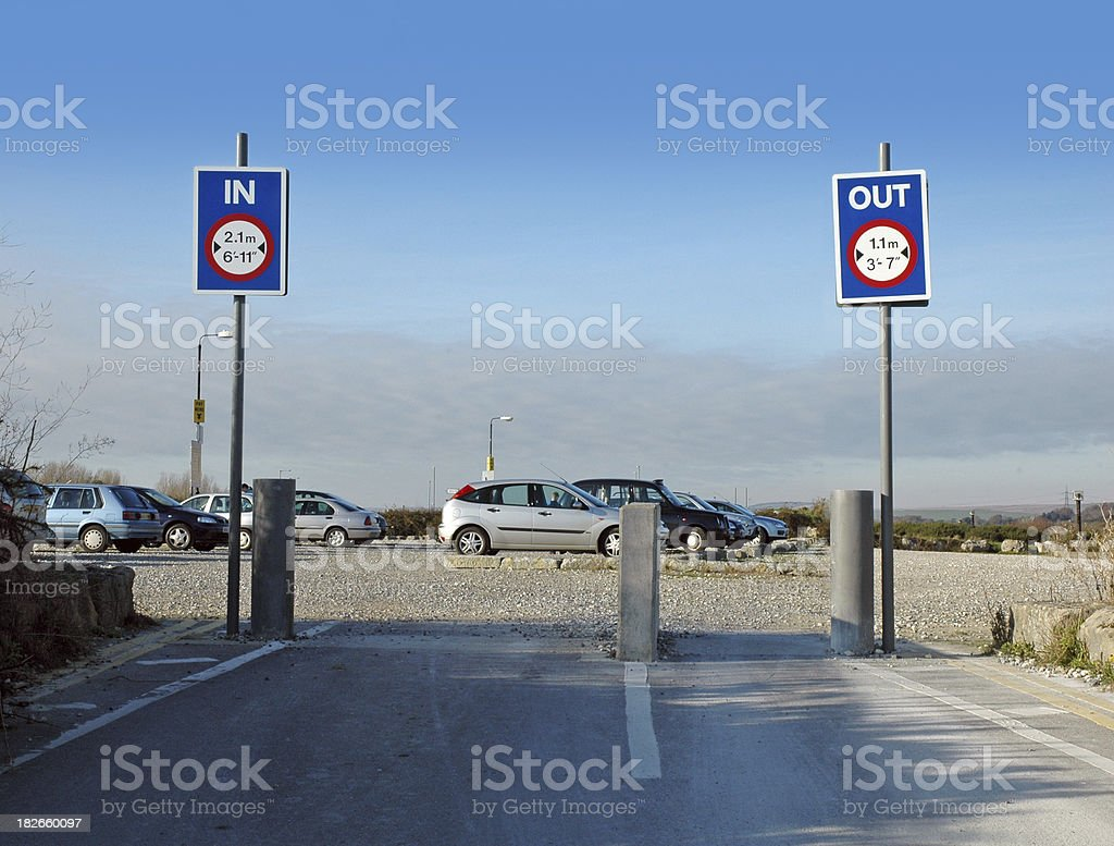 Parking madness stock photo