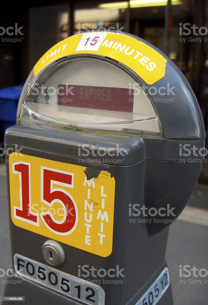 Parking Meter: 15 Minutes royalty-free stock photo