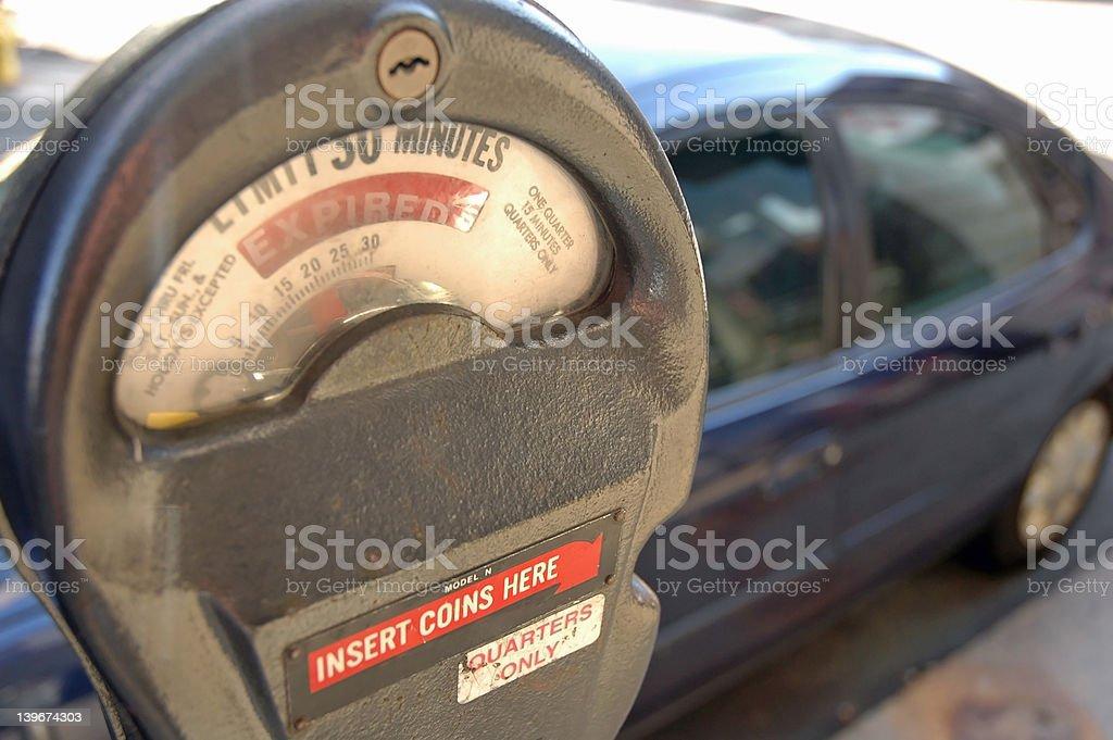 Parking Meter Violation stock photo