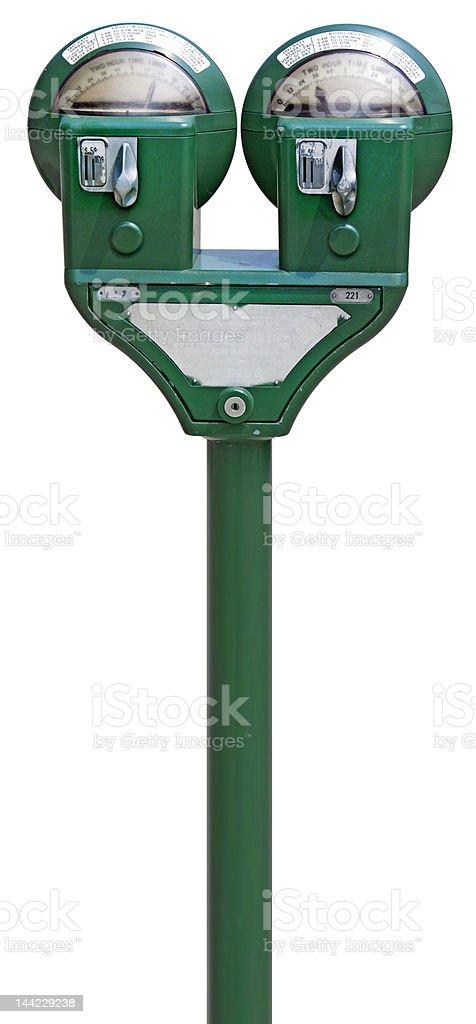 Parking Meters royalty-free stock photo
