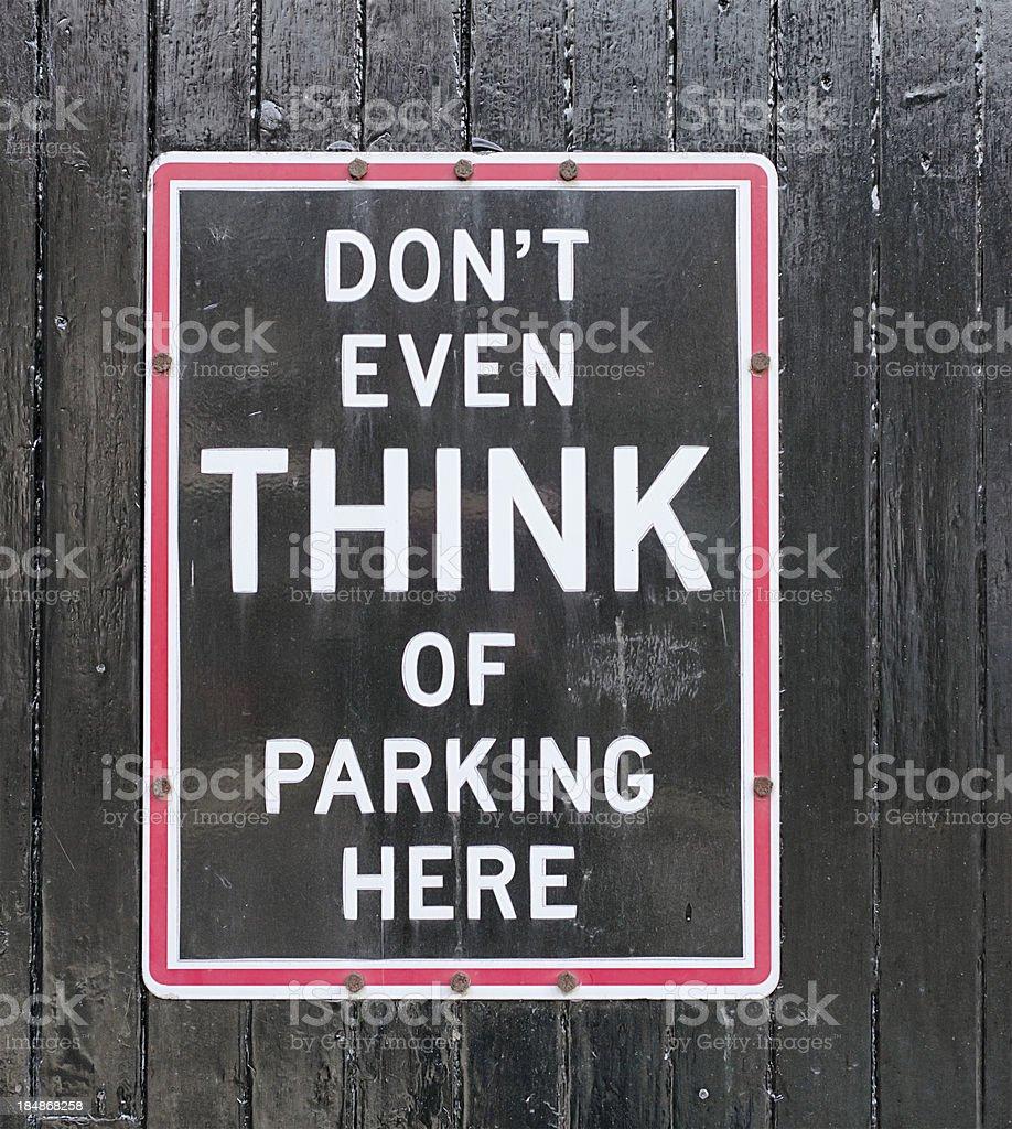 Parking Not Encouraged stock photo