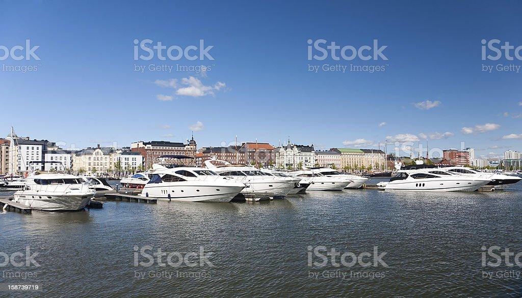 Parking of boats, Helsinki, Finland royalty-free stock photo