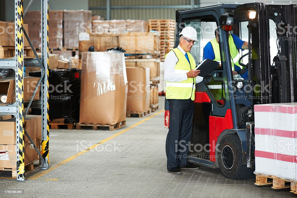 Parking packages stock photo