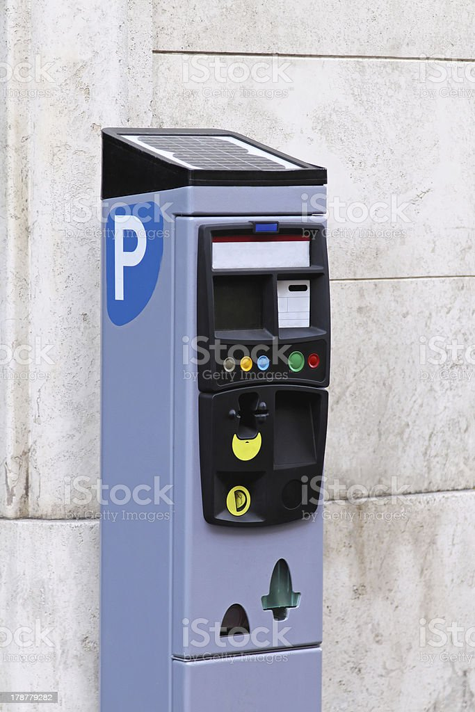 Parking pay station stock photo