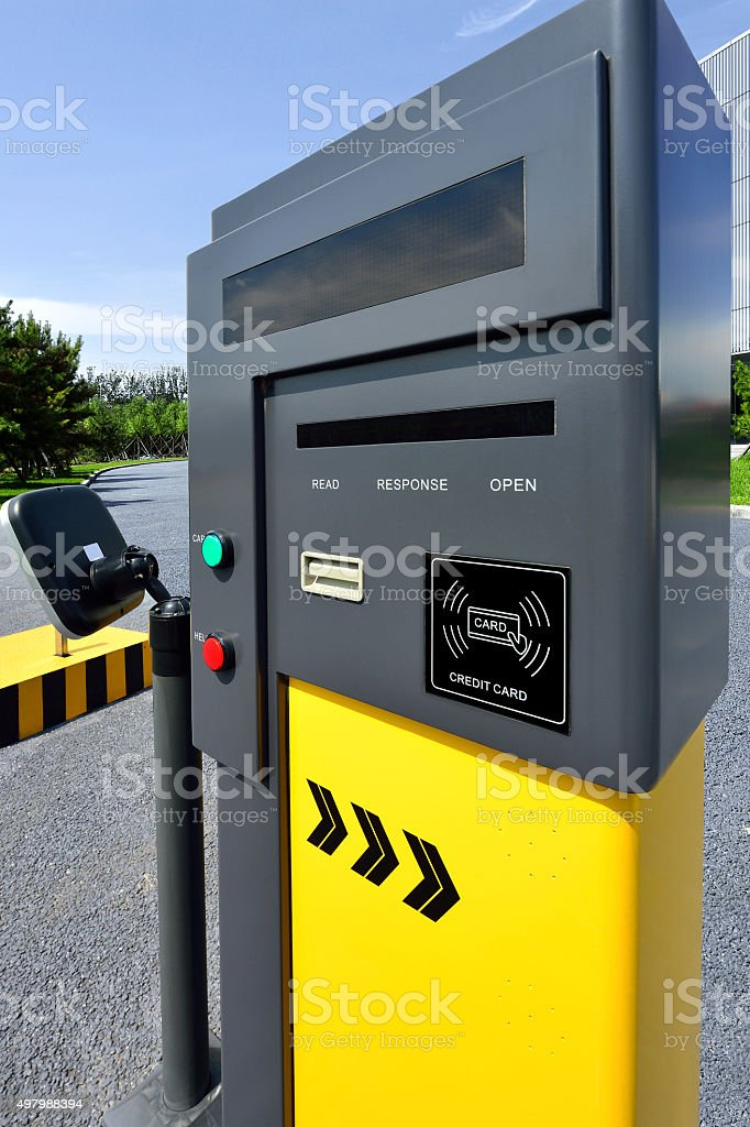 Parking Payment Card Reader stock photo