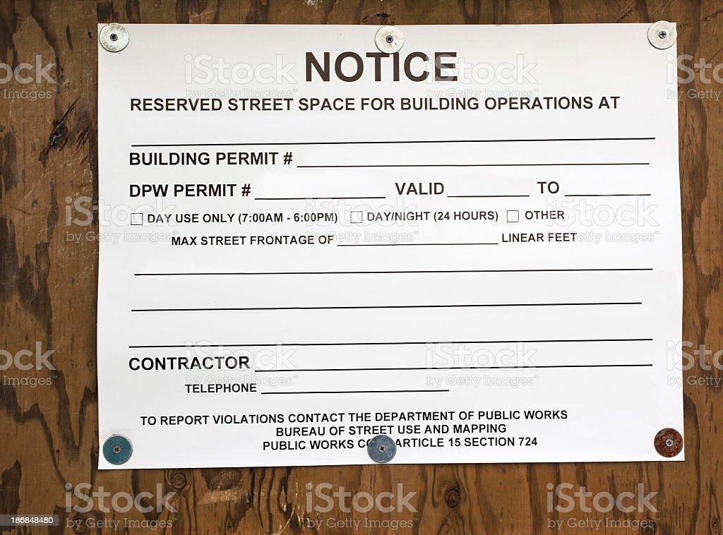 Parking Permit stock photo