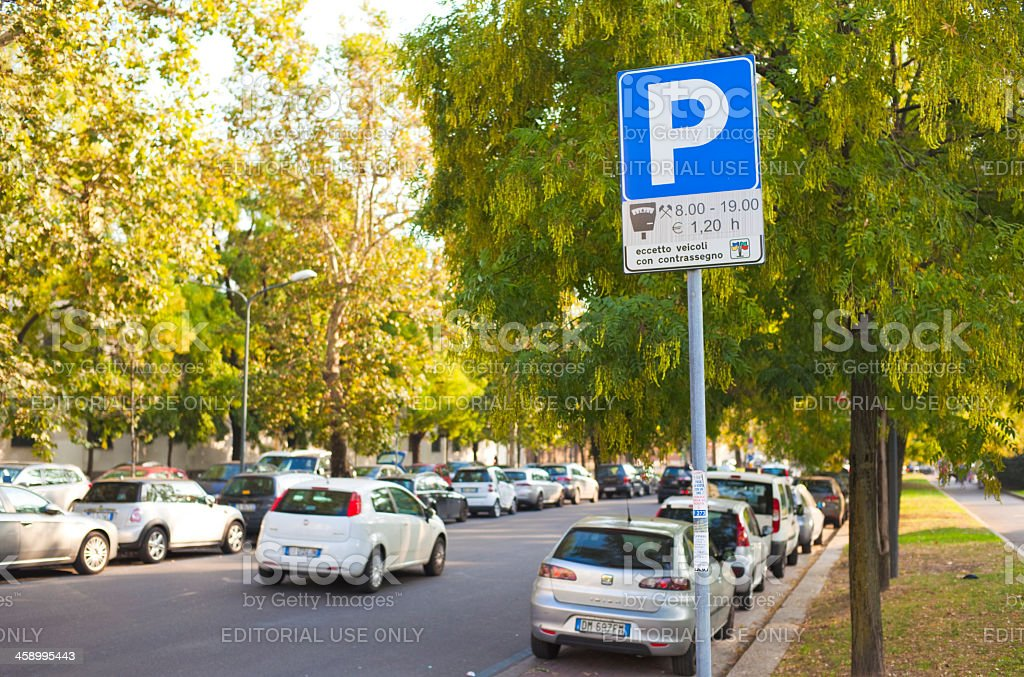 Parking royalty-free stock photo