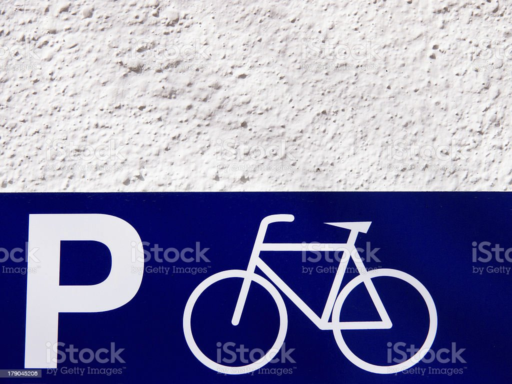 parking place for bicycles royalty-free stock photo