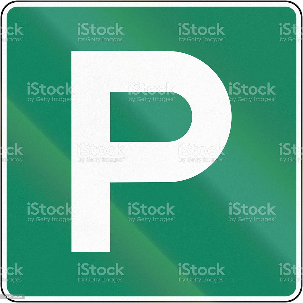 Parking Place in Canada stock photo