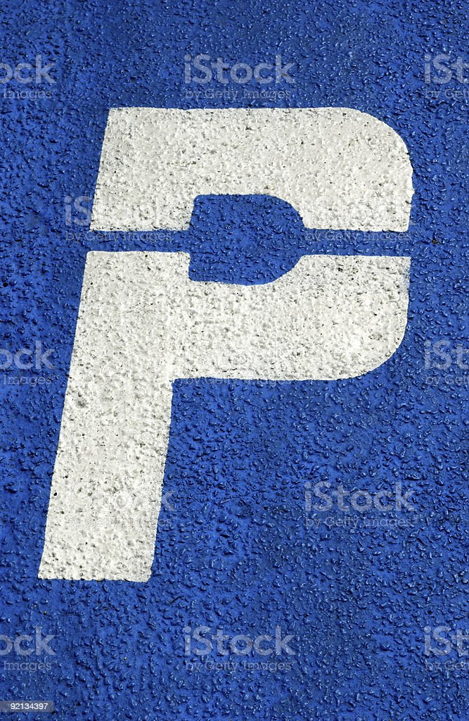 Parking Place royalty-free stock photo