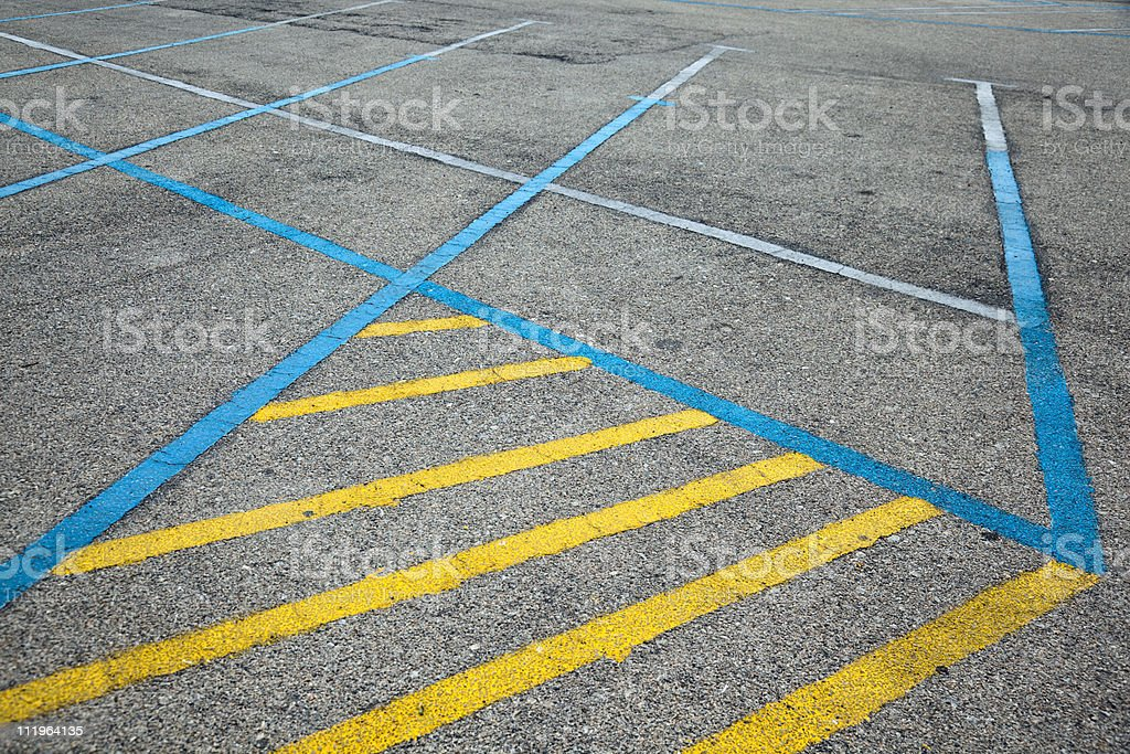 Parking places royalty-free stock photo