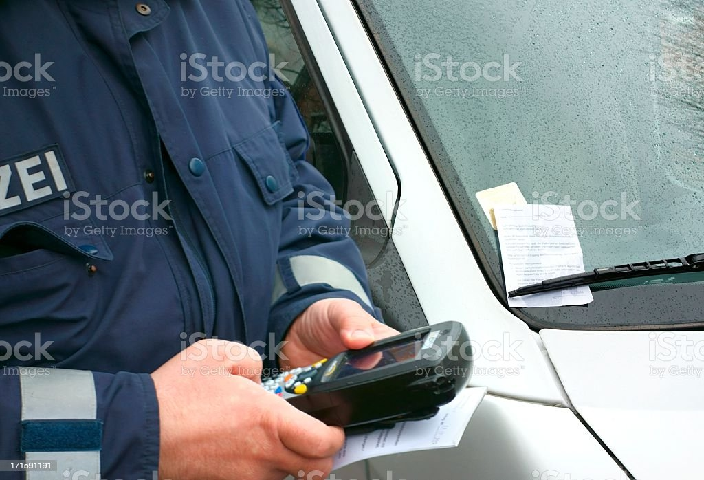 Parking prohibition stock photo