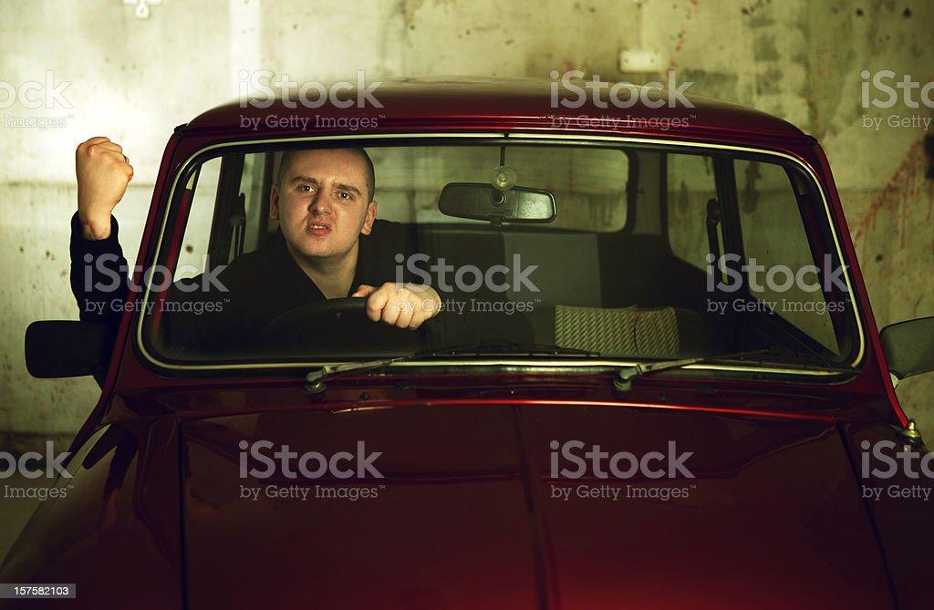 Parking rage royalty-free stock photo