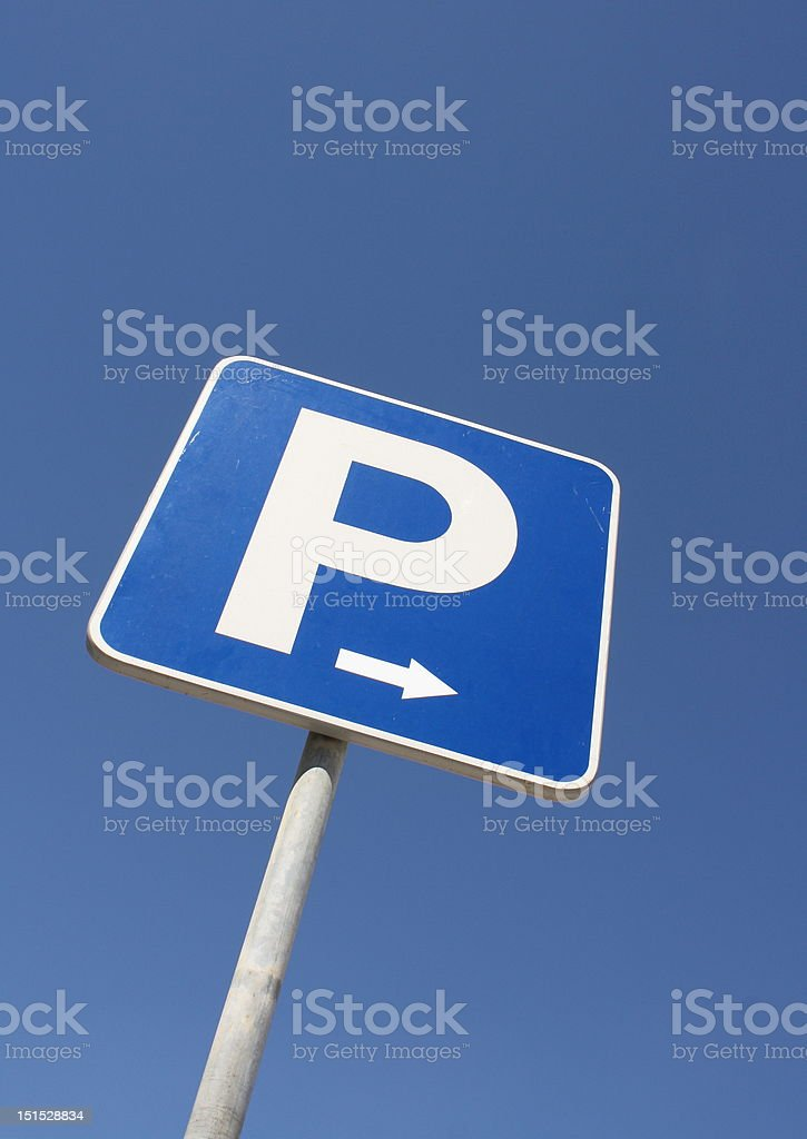 Parking Road Sign royalty-free stock photo