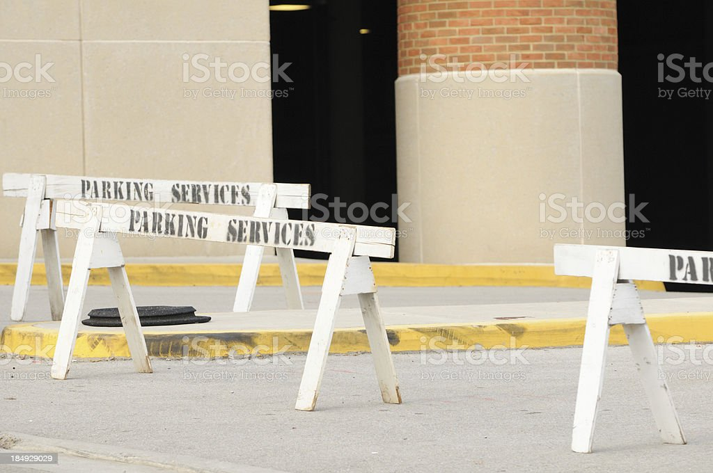Parking services signs stock photo