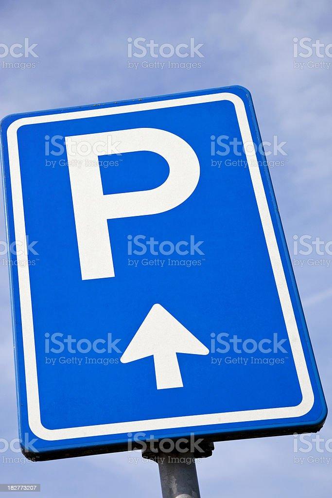 Parking sign # 6 XXXL royalty-free stock photo