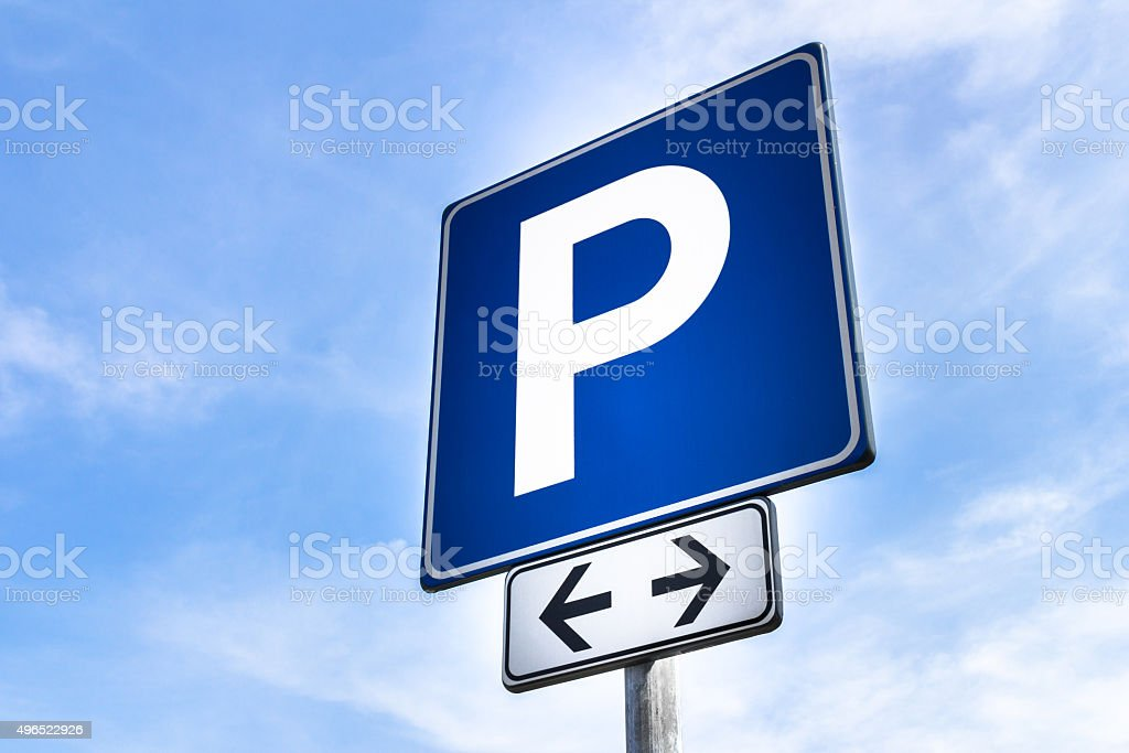 Parking signal stock photo