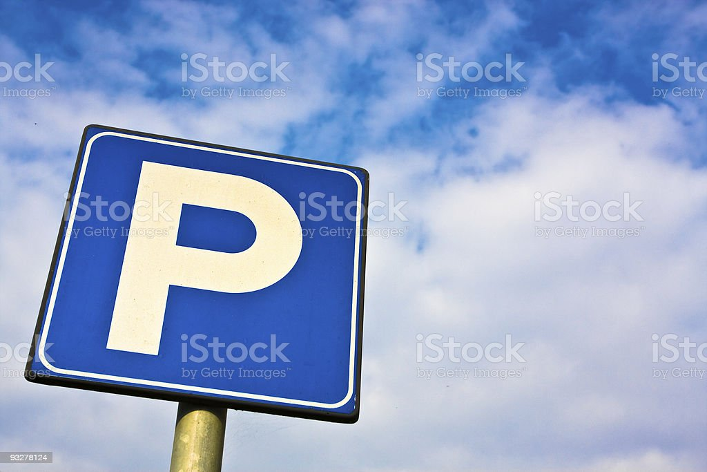 Parking signal royalty-free stock photo