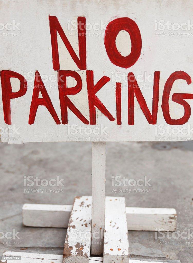 parking signal-manila stock photo