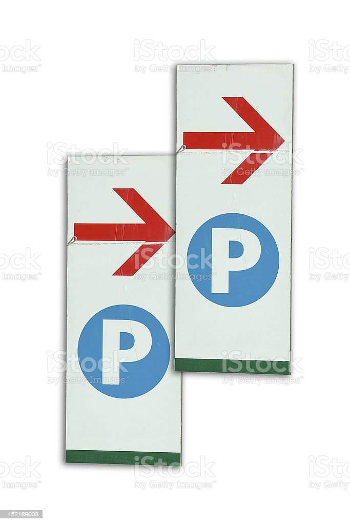 Parking Signs royalty-free stock photo