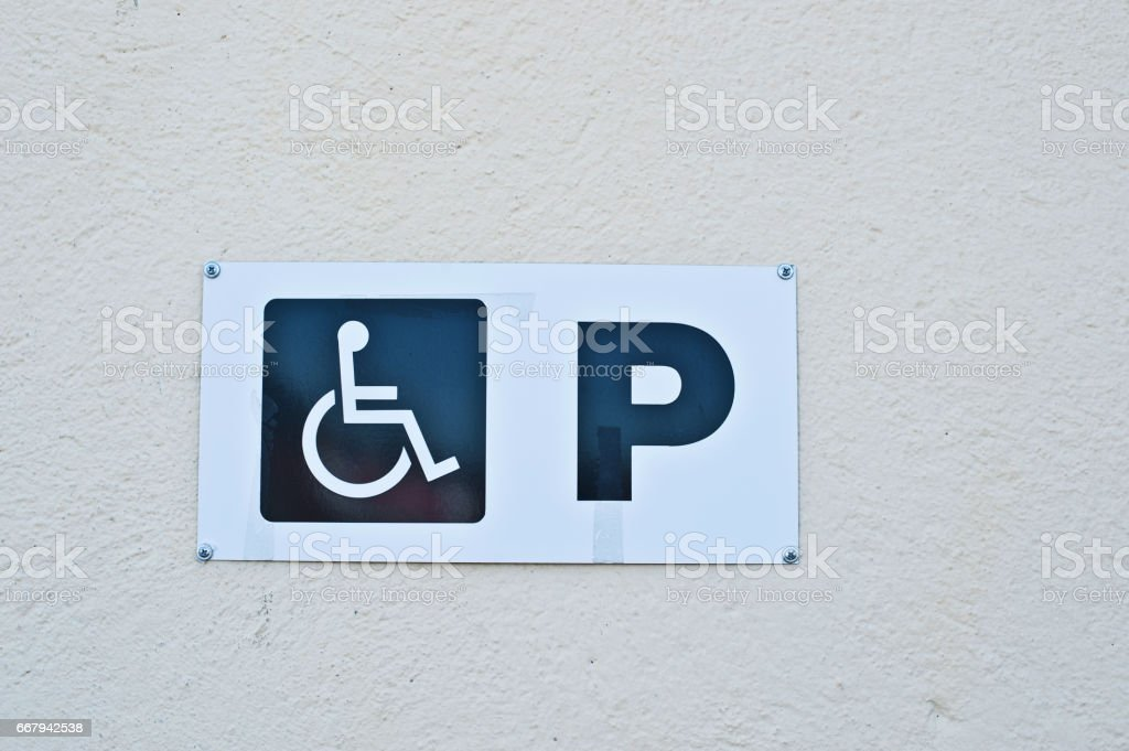 Parking Space for Disabled stock photo