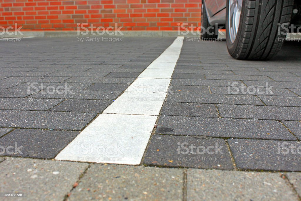 Parking space markings. stock photo