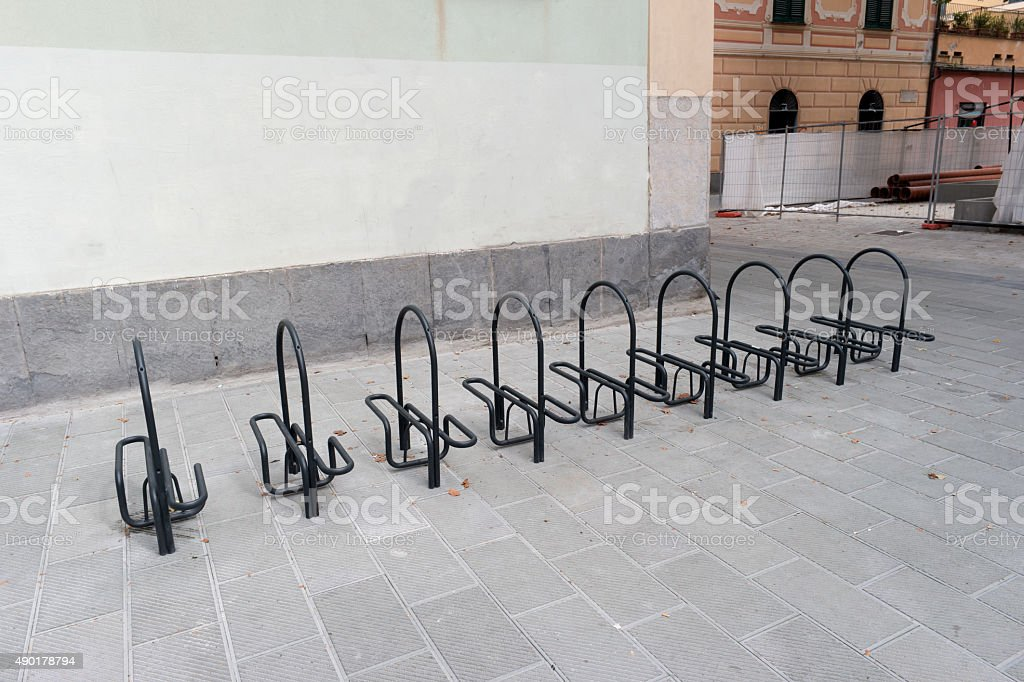 Parking system bicycle royalty-free stock photo