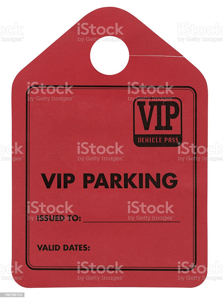 VIP Parking Tag  XXL royalty-free stock photo