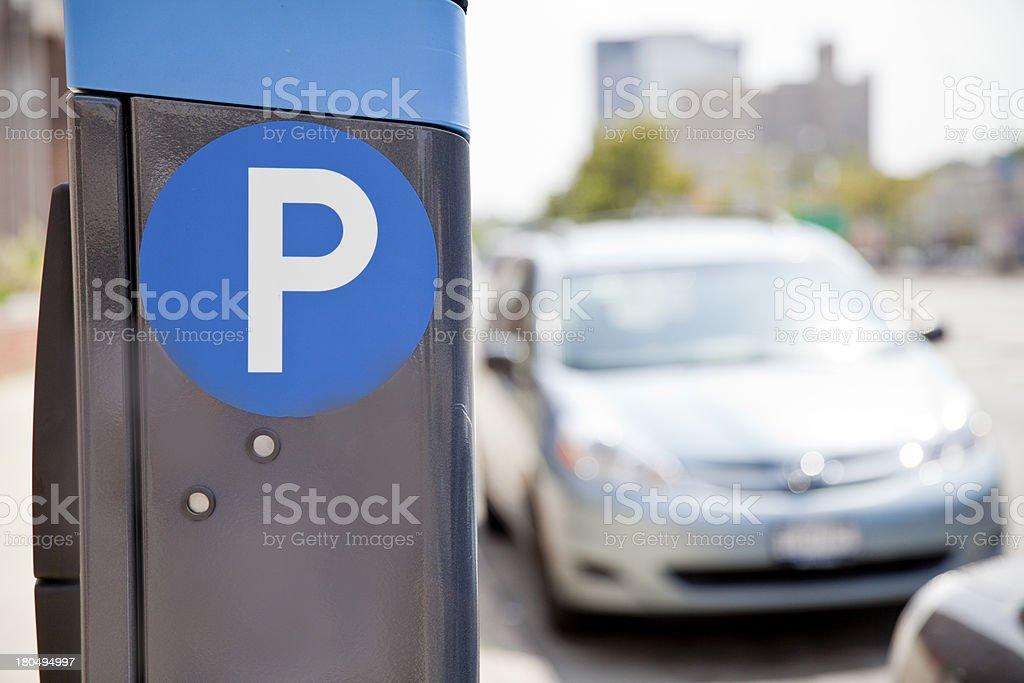 Parking ticket machine stock photo