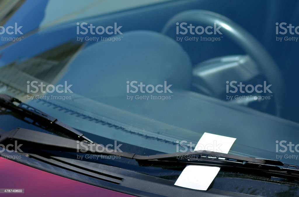 Parking ticket stock photo