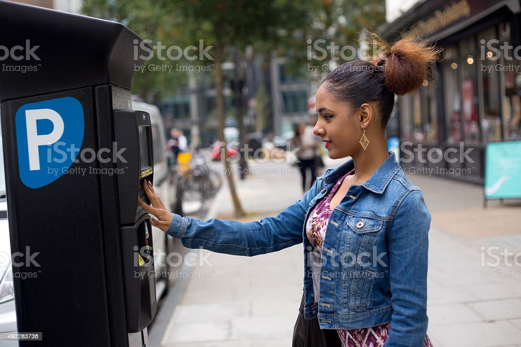 parking ticket stock photo