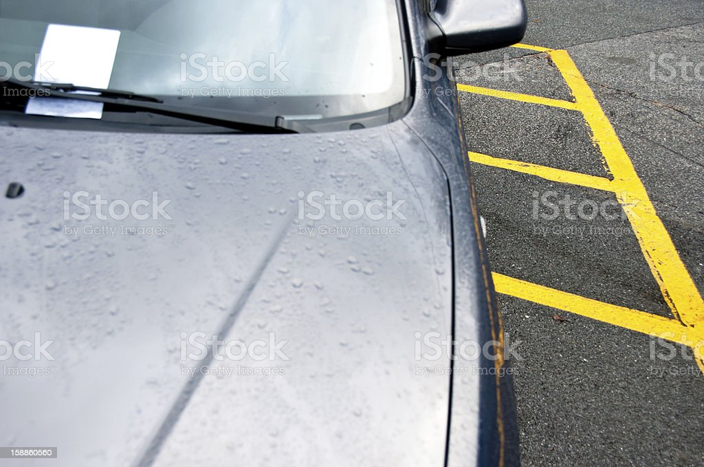 Parking ticket with hash lines stock photo