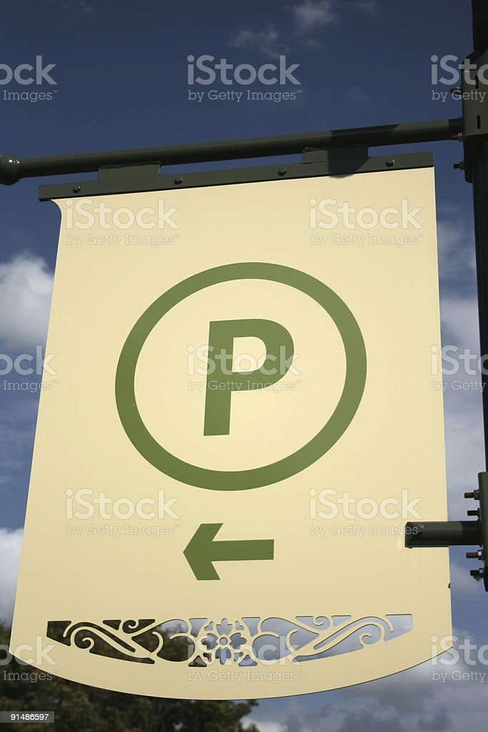Parking to the left royalty-free stock photo