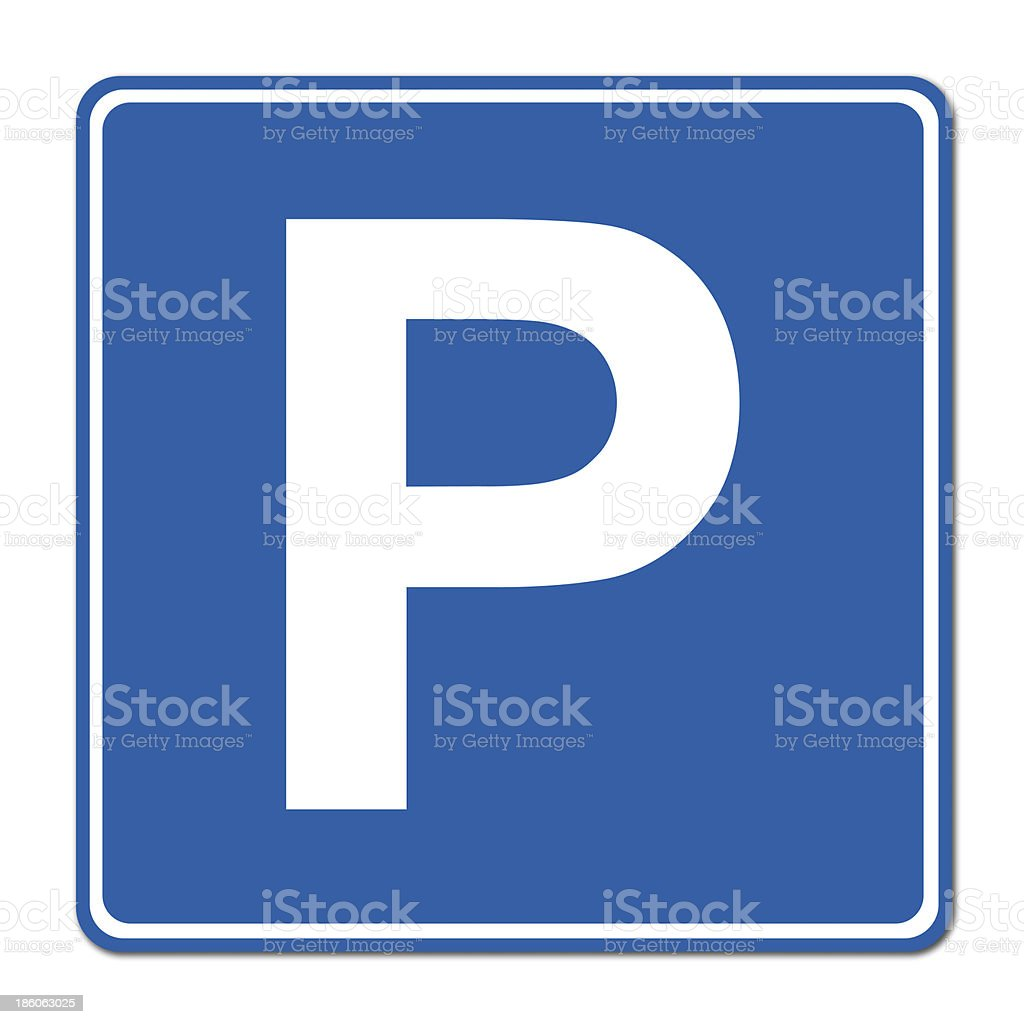 Parking traffic sign stock photo