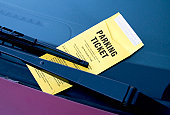 Parking violation underneath wiper blade