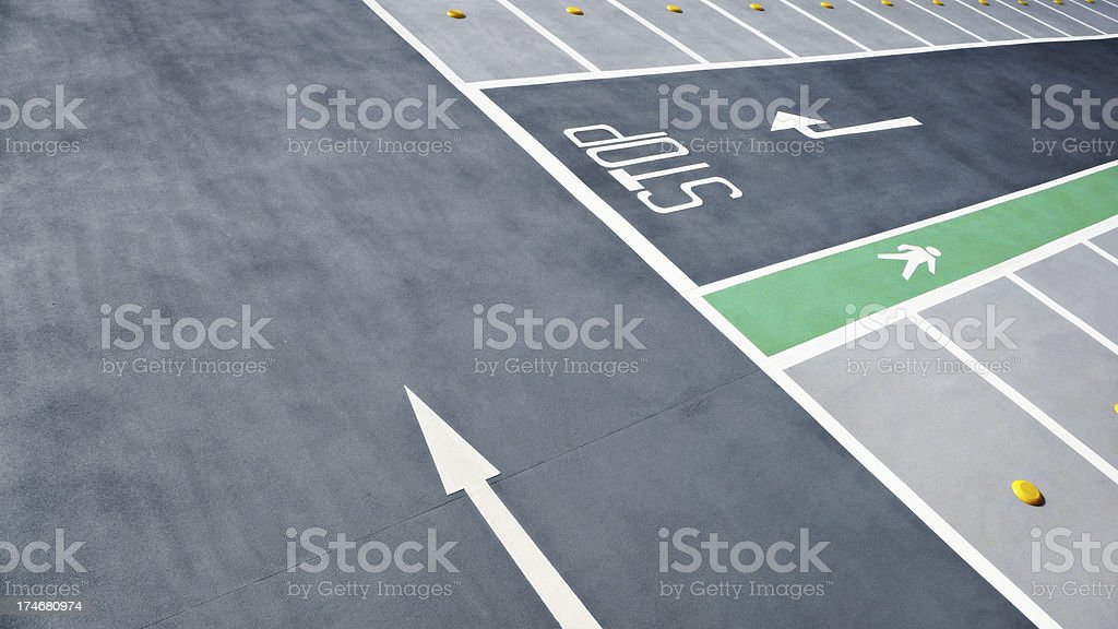 Parkinglot royalty-free stock photo