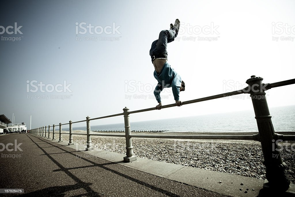 Parkour and freerunning stock photo